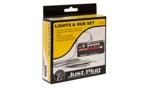 Woodland Scenics Just Plug Lights & Hub Set (Lights & Hub) JP5700