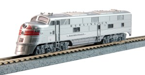 Kato N Scale Chicago Burlington & Quincy E5A CB&Q #9911A Silver Speed 176-5403
