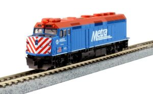 Kato N Scale Chicago Metra #142 F40PH Ditch Lights Ravinia 76-9104
