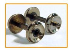 Fox Valley Models N Scale 33″ Semi Scale Wheels .553 Axle (12 pcs) 3602