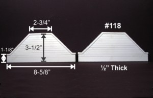 Monroe Models HO Bridge Abutment Groove Face Concrete (2 pcs) 118