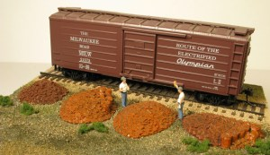 Monroe Models HO Railroad Tie Plate Piles With Spike Buckets (4 pcs) 2107