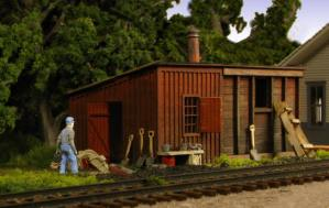 Monroe Models HO Pump House & Coal Shed Laser Kit #2212