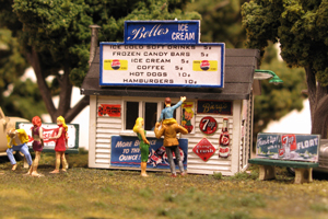 Monroe Models HO Belles Ice Cream Stand Laser Kit #2209