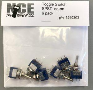 NCE On/On SPST Toggle Switch (6 pcs) 5240303