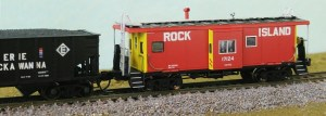 Bluford Shops N Scale Rock Island RI 17170 Bay Window Caboose 44011