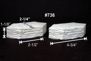 Monroe Models HO Cutwater Pier Support Split Stone (2 pcs) #736