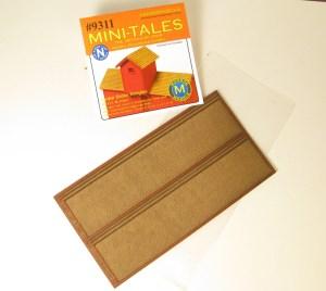 Monroe Models N Mini-Tales Cedar Shake Shingles Sheets #9311