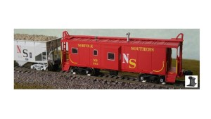 Bluford Shops N Scale Norfolk Southern 383 Bay Window Caboose 42071