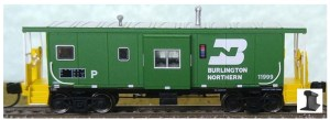 Bluford Shops N Scale Burlington Northern #11997 Bay Caboose 44070