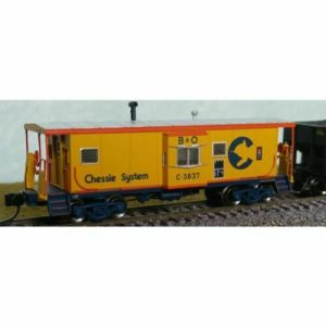 Bluford Shops N Scale B&O Baltimore & Ohio #C3837 Bay Caboose 44060