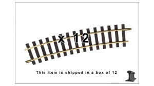PIKO 35217 ~ R7 1560MM Curve Track 61.4″R With Joiners ~ 12 Pack