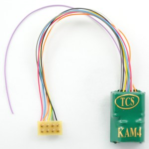 TCS KAM4P-LH DCC Decoder With Keep Alive & 8 Pin Plug 5″ Harness 1488