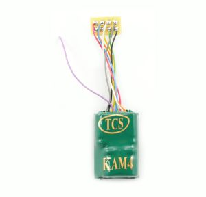 TCS KAM4P-SH DCC Decoder With Keep Alive & 8 Pin Plug 1″ Harness 1486