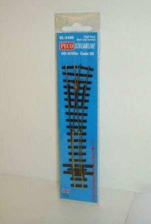 Peco HOn30 Scale Code 80 ~ Medium Radius Right Hand Switch Turnout Electrofrog SL-E495