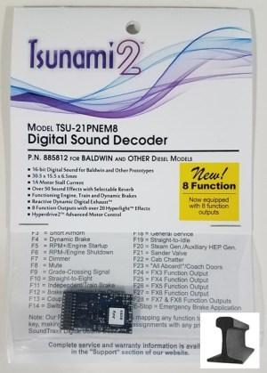 Soundtraxx Tsunami 2 DCC Sound Baldwin & Others ~ 21 Pin ~ 8 Function ~ 885812
