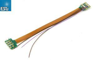 ESU 51995 18 Pin Next18 Socket to NEM652 8 Pin Plug ~ 88mm ~ With Heat Shrink Tube