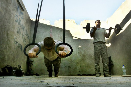 Soldiers training