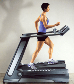 Woman on a treadclimber