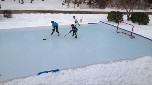 Backyard Ice Rinks Backyard Rink Iron Sleek Inc