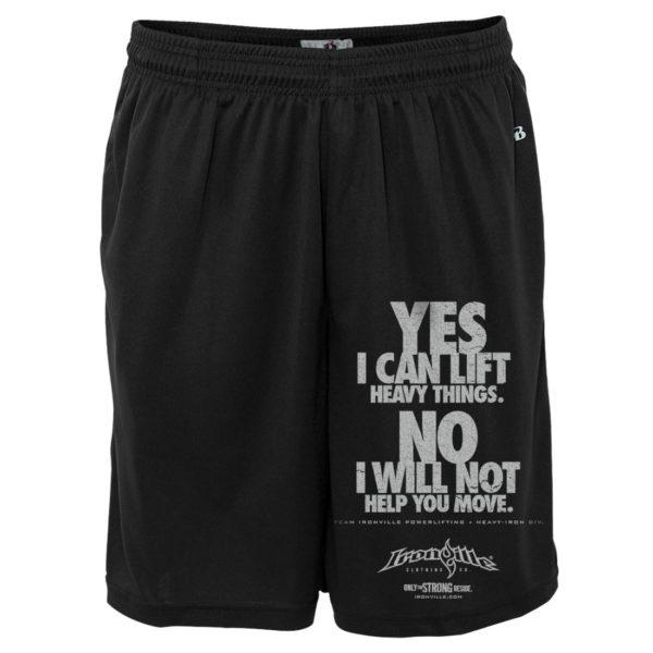 Yes No Powerlifting Gym Shorts Ironville Clothing