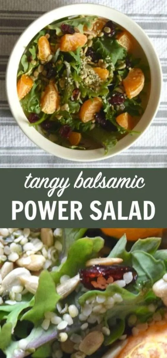Looking for a summer salad recipe to try? This tangy balsamic power salad recipe will leave you asking for seconds!