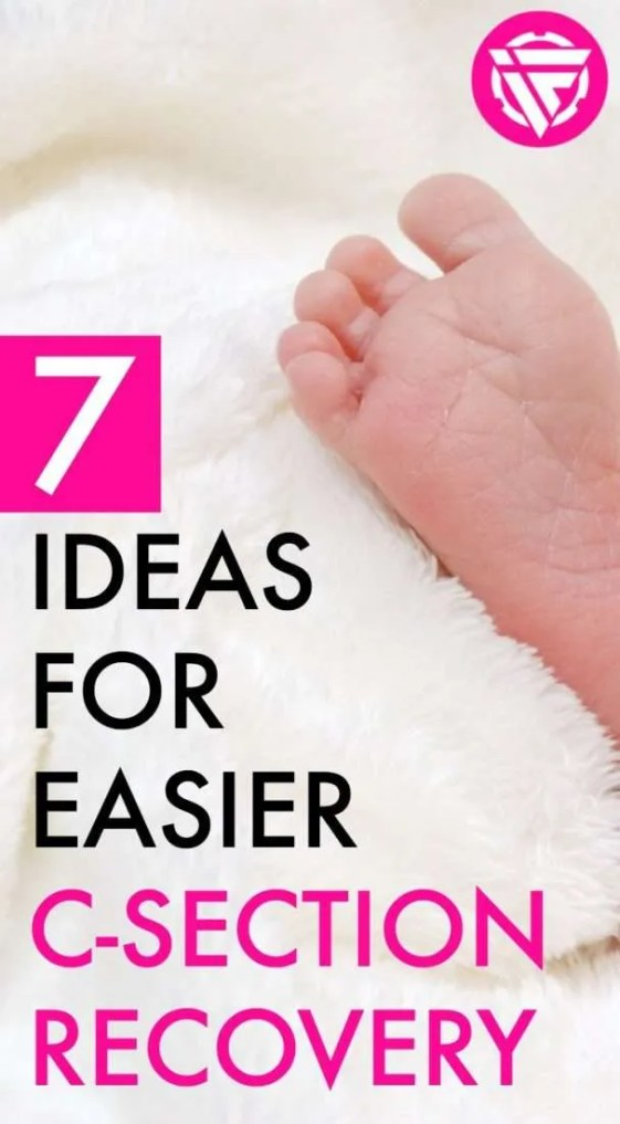 Want to make your postpartum recovery easier? Here are 7 things I recommend having for an easier c-section recovery.