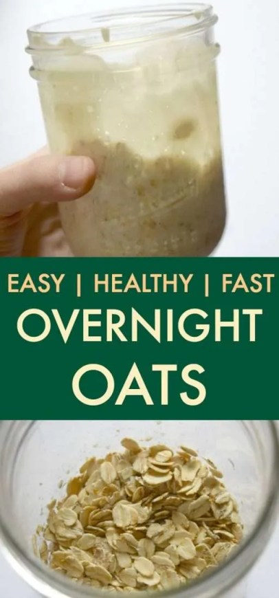 Easy, healthy overnight oats recipe that can be customized easily. I would consider this a great base recipe for overnight oats.