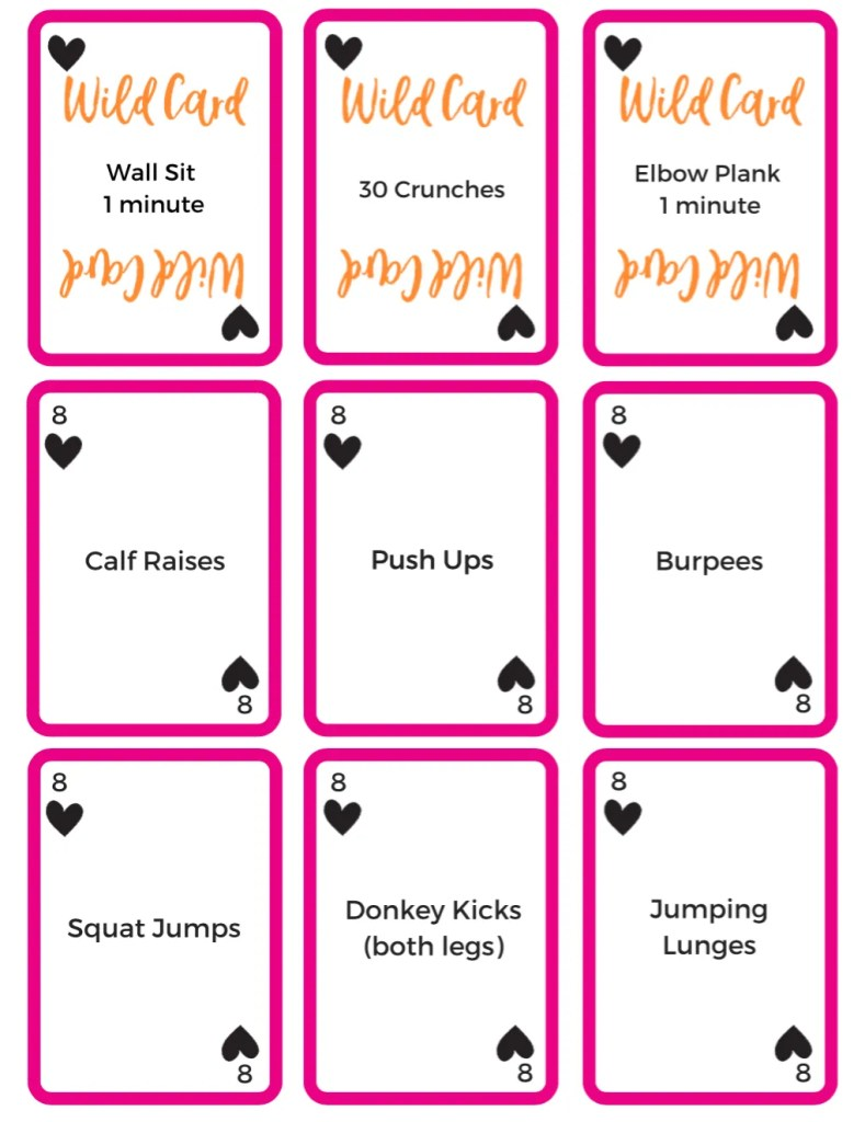 Free Workout Game - Wildcard Workout Card Deck