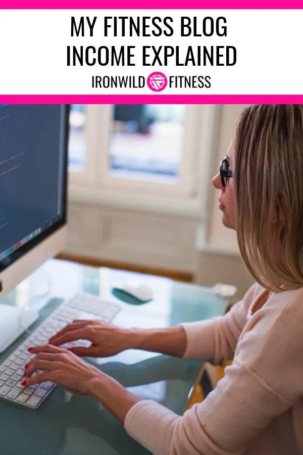 fitness blog income report broken down by revenue stream