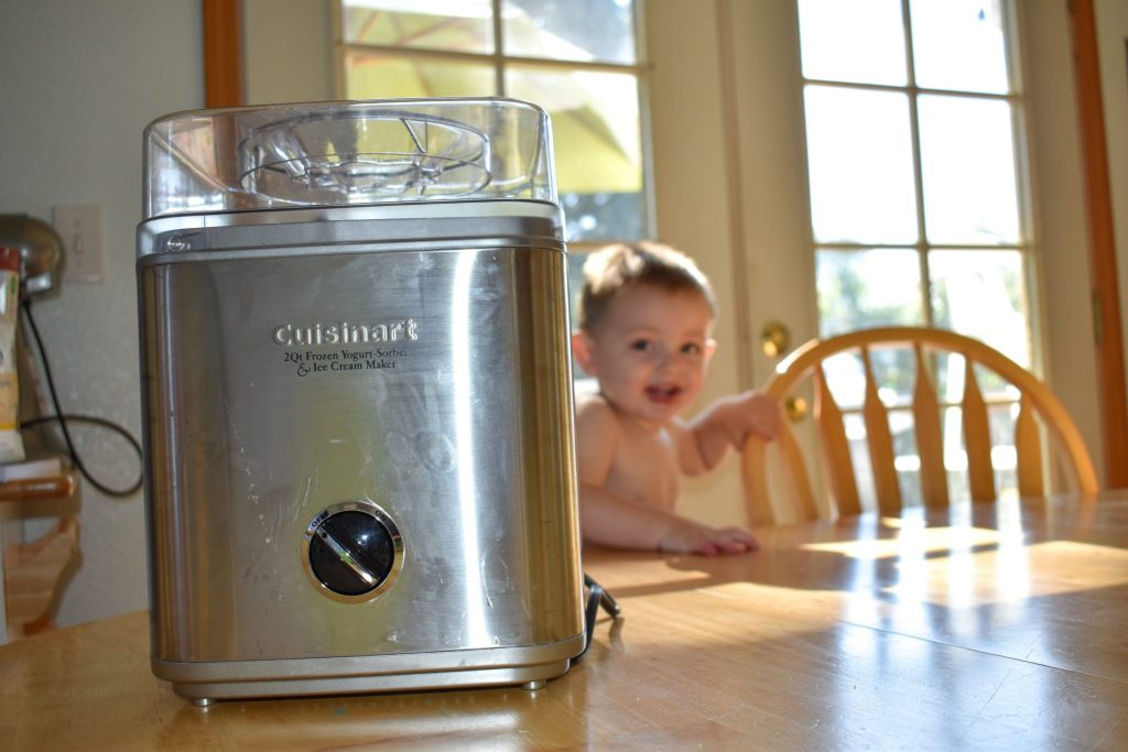 you can make this healthy blackberry frozen yogurt with a cuisinart