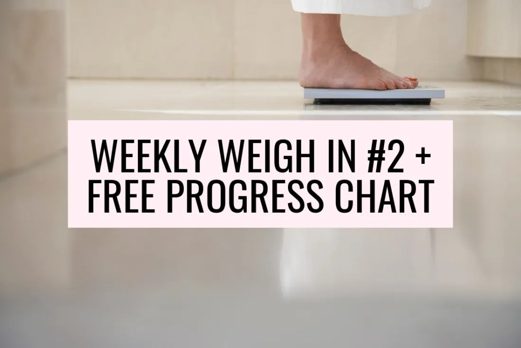 free printable weekly weight loss tracker