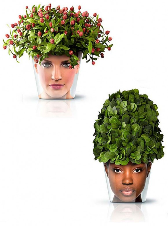 Extraordinary Planters And Pots Designs With Human Face