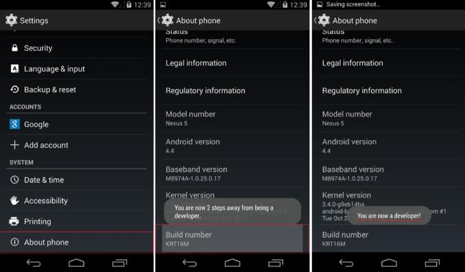 Resultado de la imagen para las opciones de desarrollador de Android