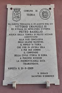 Teora epigrafe piazza