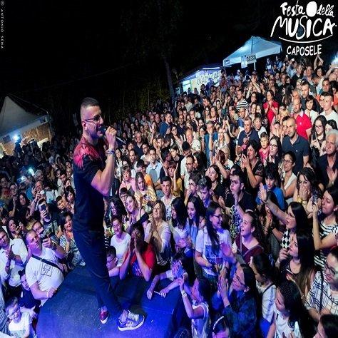 Angelo Famao all'edizione 2019 della festa della musica caposele