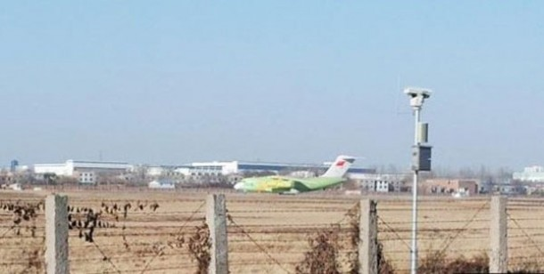 China's new jumbo air freighter, the Y-20, prepares to take off from an unidentified airport for a test run on Jan. 26. (Photo: People's Daily)