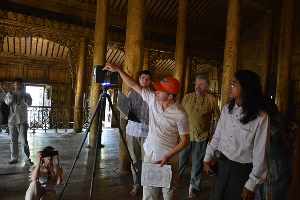 Myanmar, Burma, Mandalay, Shwenandaw Kyaung, Golden Palace Monastery, restoration, World Monuments Fund, United States, Florida,