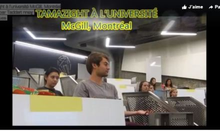 Tamazight à l'université McGill de Montréal.