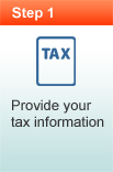 Provide your tax information