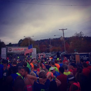 Over 40 Runner 10k start chutes Hot Springs Arkansas runner Spak10k