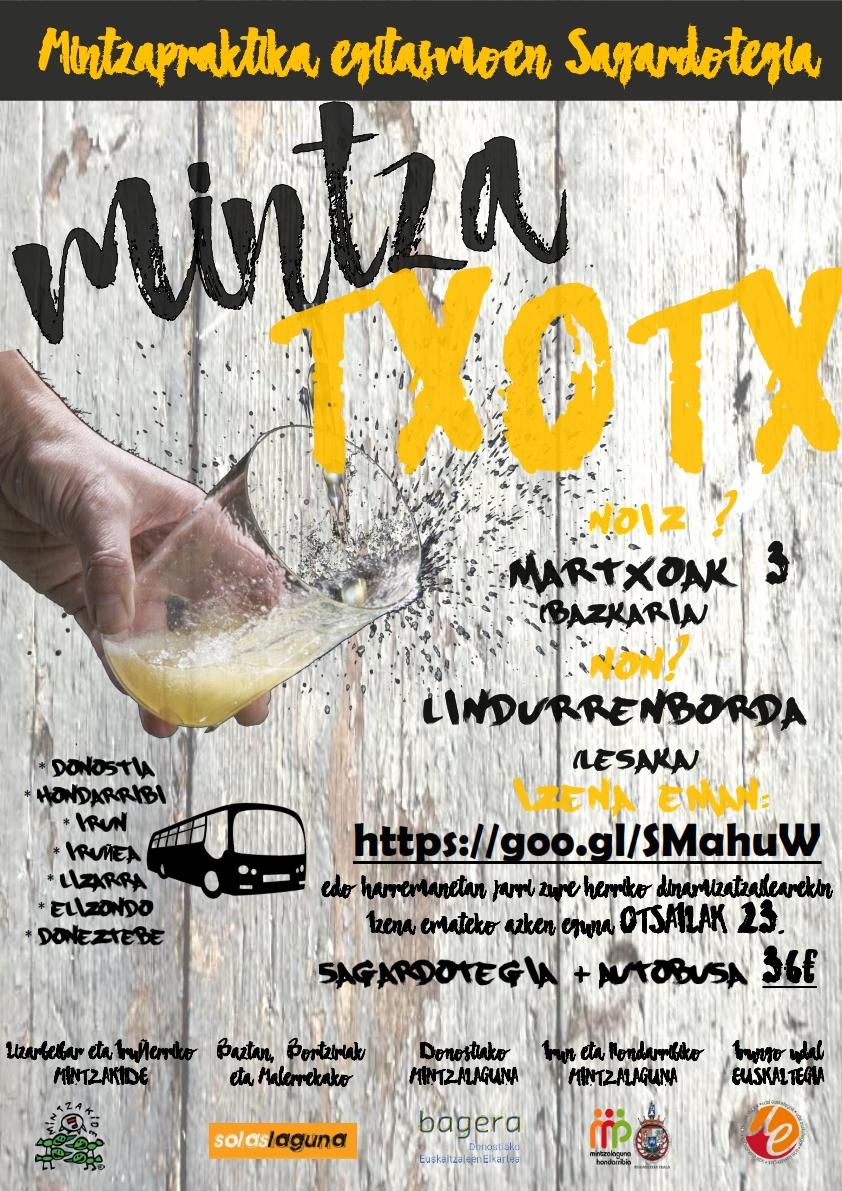 MINTZA-TXOTX! Lesakako Linddurenborda Sagardotegira irteera!