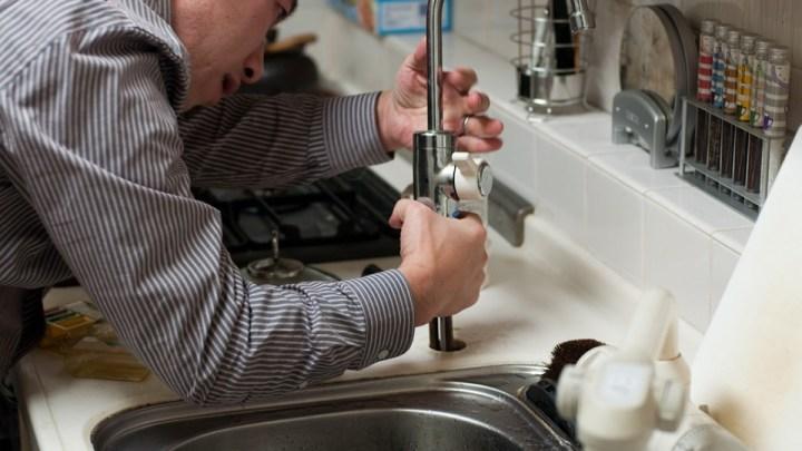 plumber working