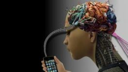 phone addict illustration
