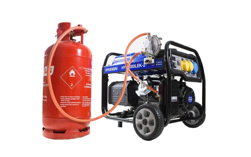 generator and fuel tank