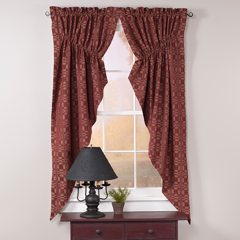 Primitive Country Curtains And Valances For Kitchens Bedrooms And Bathrooms Irvins Tinware