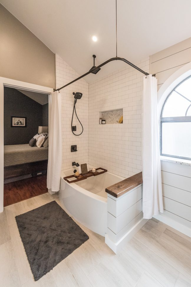 Modern Farmhouse Bathroom Before Amp After Irwin Construction