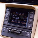 Mazda Cosmo integrated color infotainment with GPS, 1990