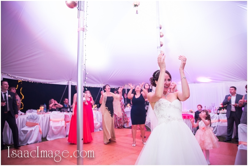 party bouquet toss