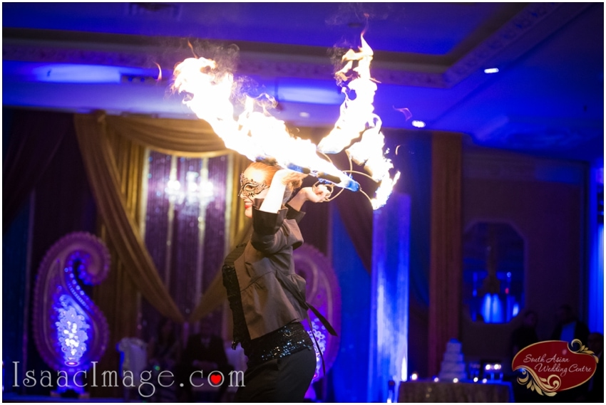 indian wedding reception fire show